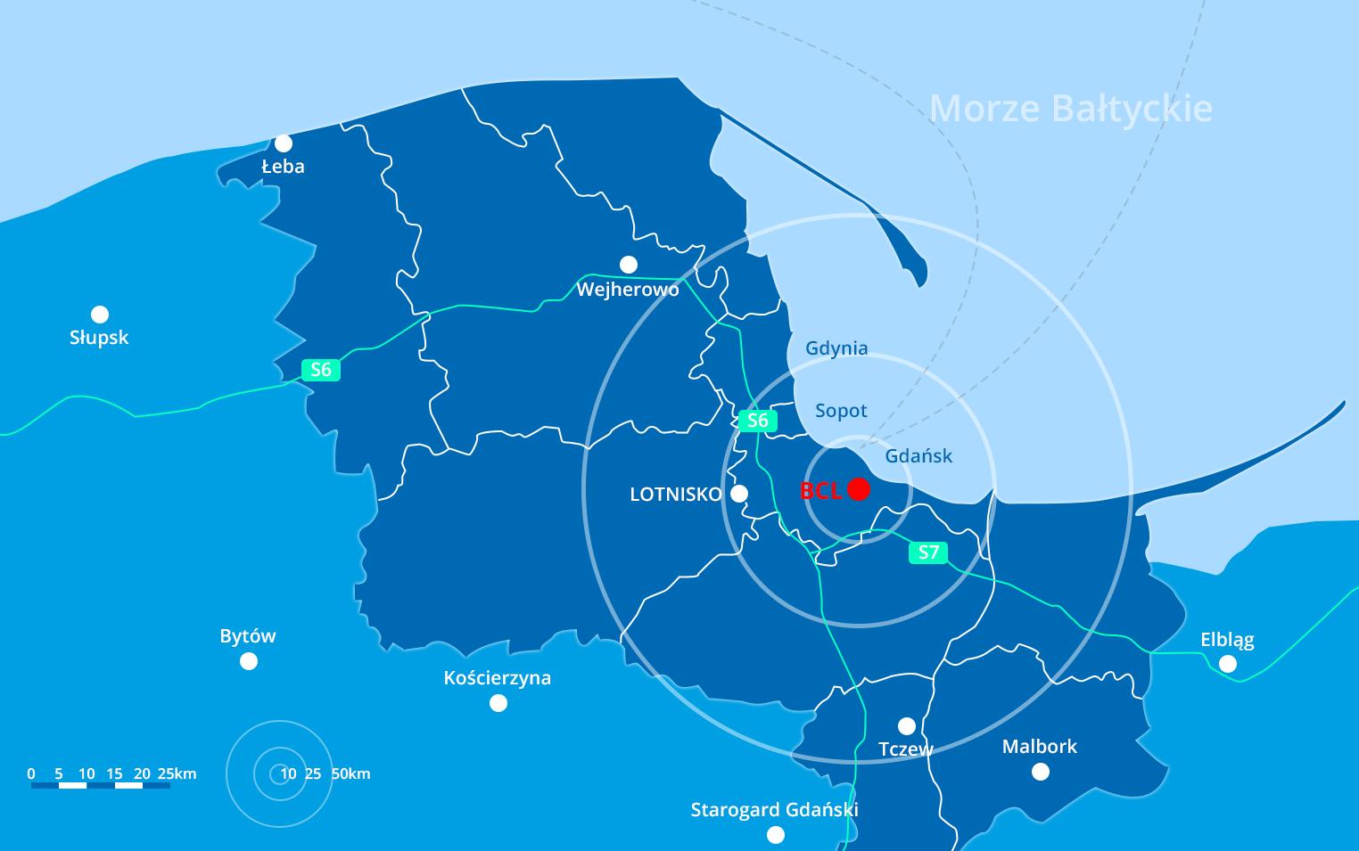 Bałtyckie Centrum Lipiński mapa